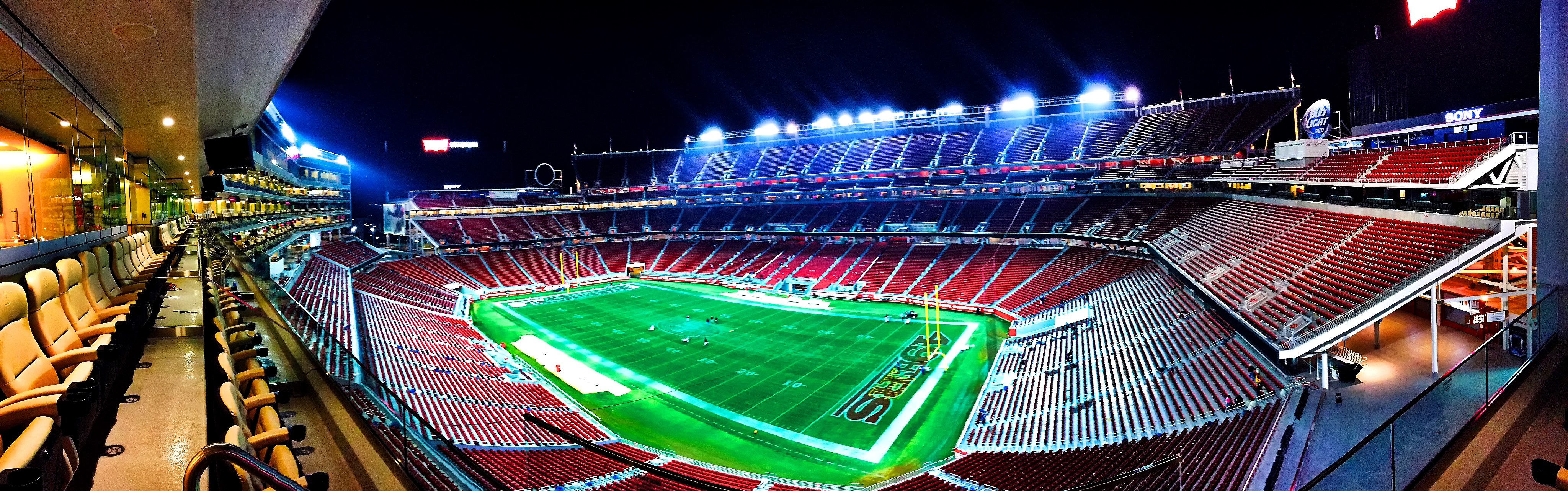 Football Stadium during Night
