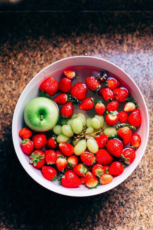 apple, bowl of fruit, fresh fruits