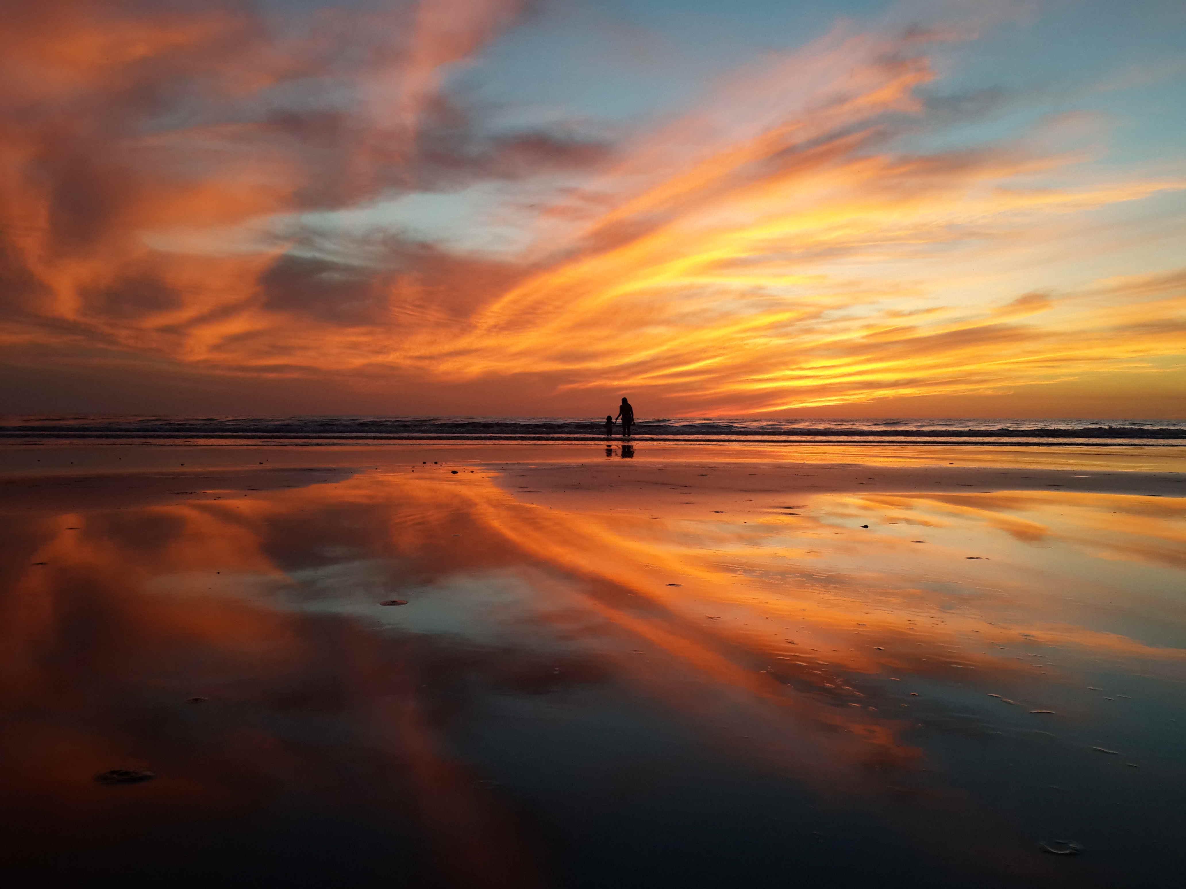 Fotos de stock gratuitas de amanecer, arena, cielo, litoral