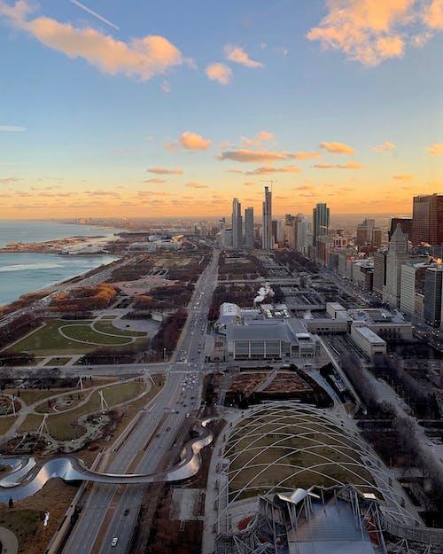 Základová fotografie zdarma na téma chicago, downtown chicago, michiganské jezero, panoráma