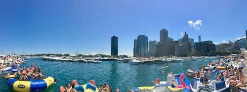 Základová fotografie zdarma na téma chicago, michiganské jezero, námořní molo, vyjížďka ve člunu