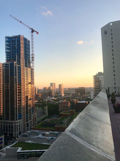 Základová fotografie zdarma na téma chicago, Gold Coast, odrazy světla, západ slunce