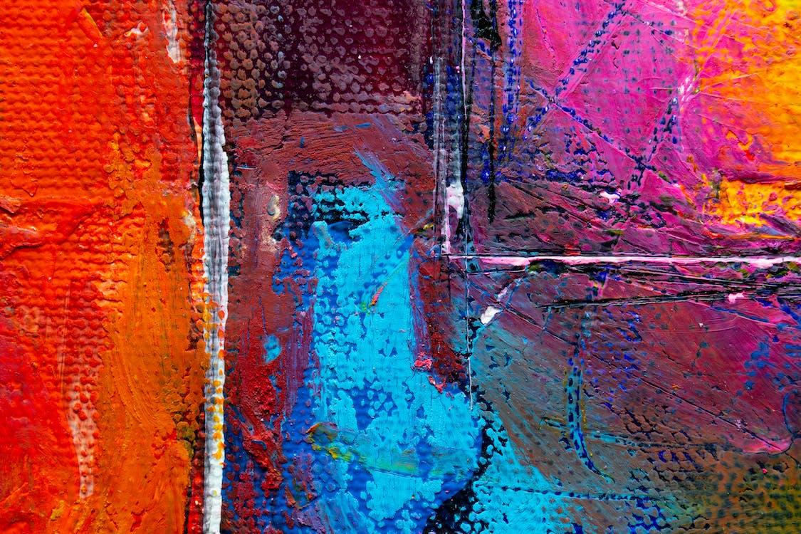 abstraktná maľba, abstraktný expresionizmus, detailný záber
