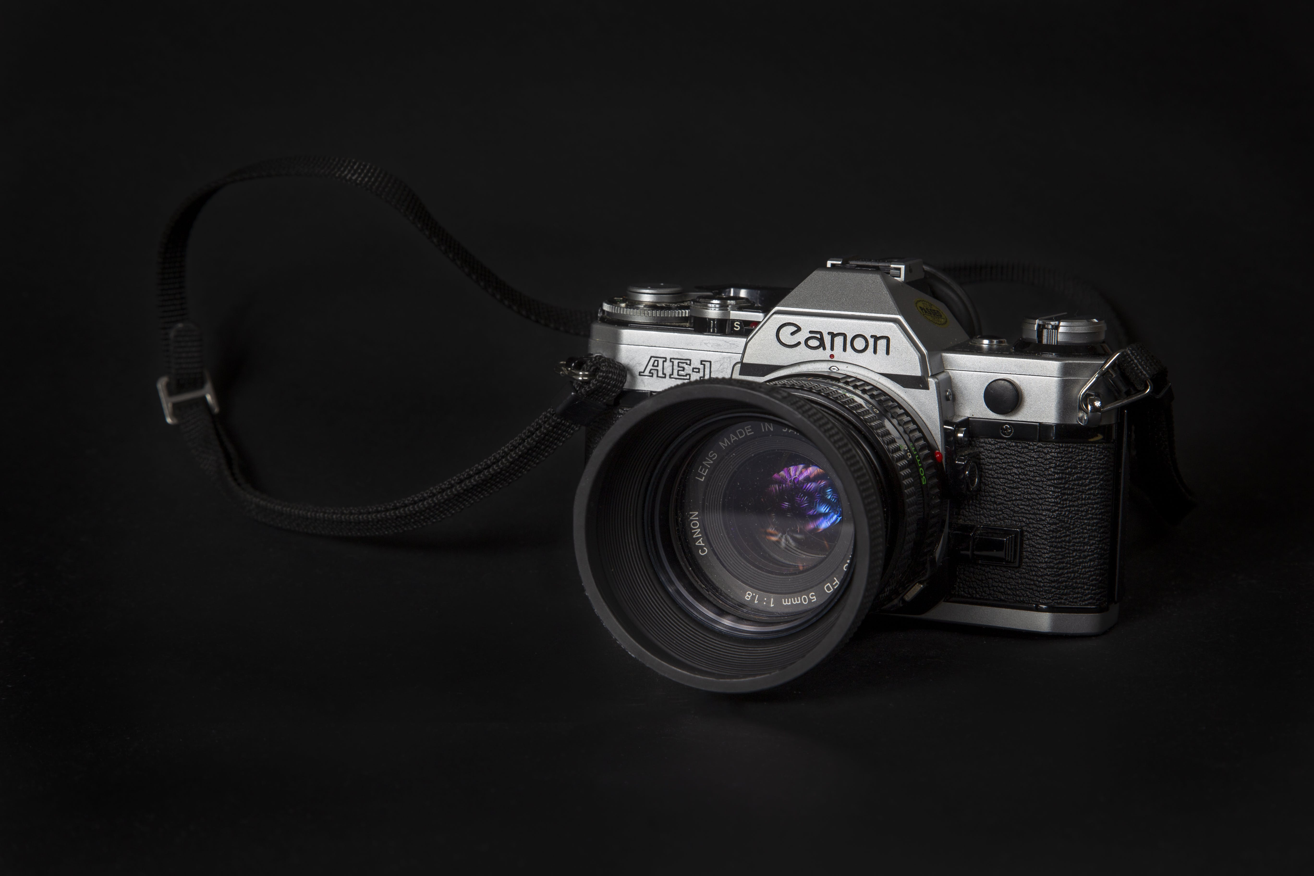 Close-Up Photo of Canon Camera