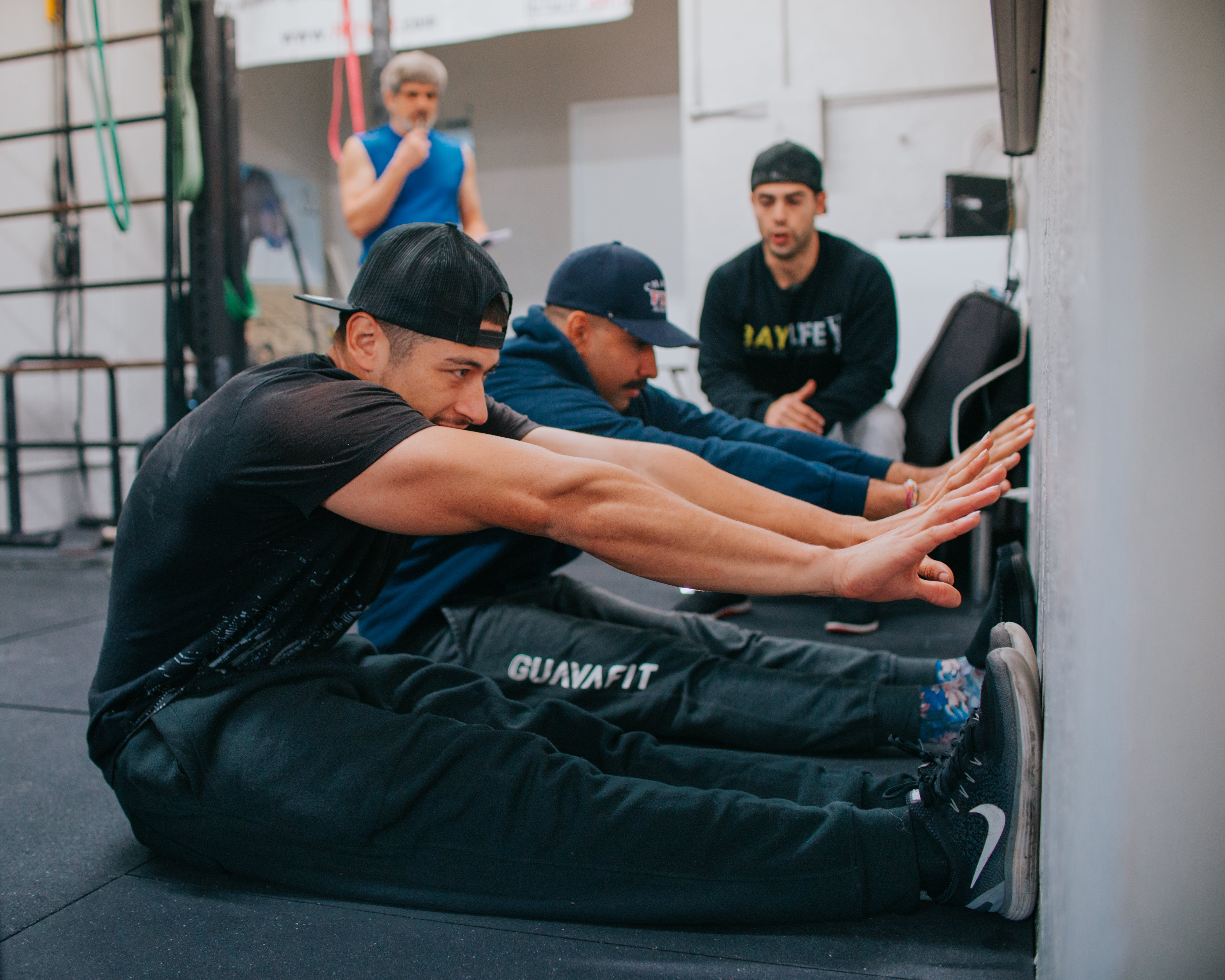 Two Men Doing Exercise