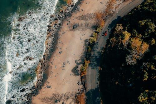 deniz, hava çekimi, kuş bakışı, okyanus içeren Ücretsiz stok fotoğraf