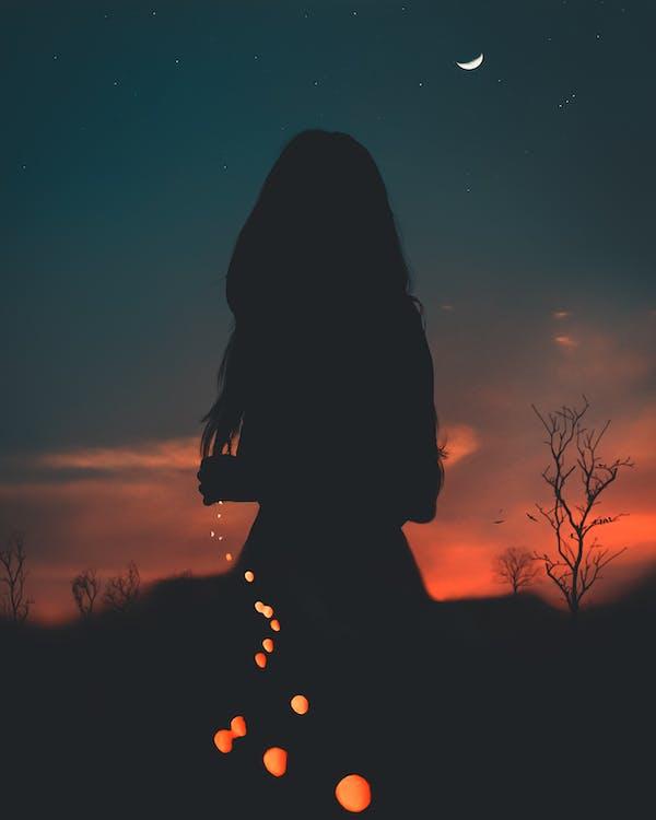 artis, backlit, bintang
