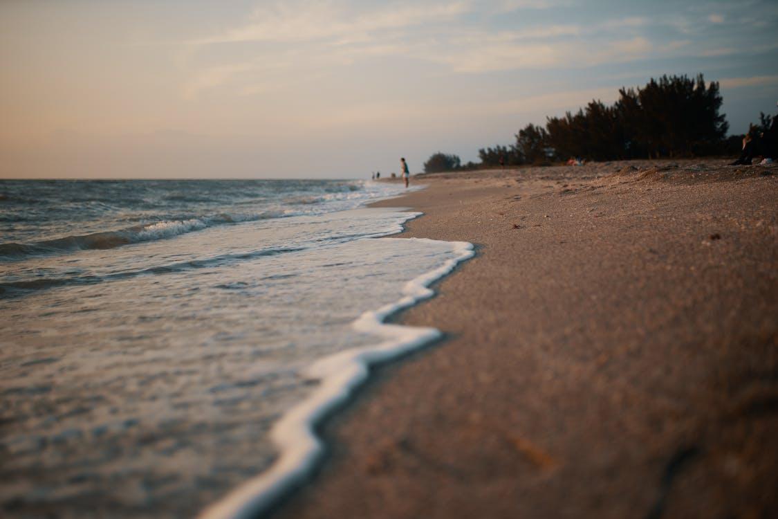 areia, beira-mar, costa