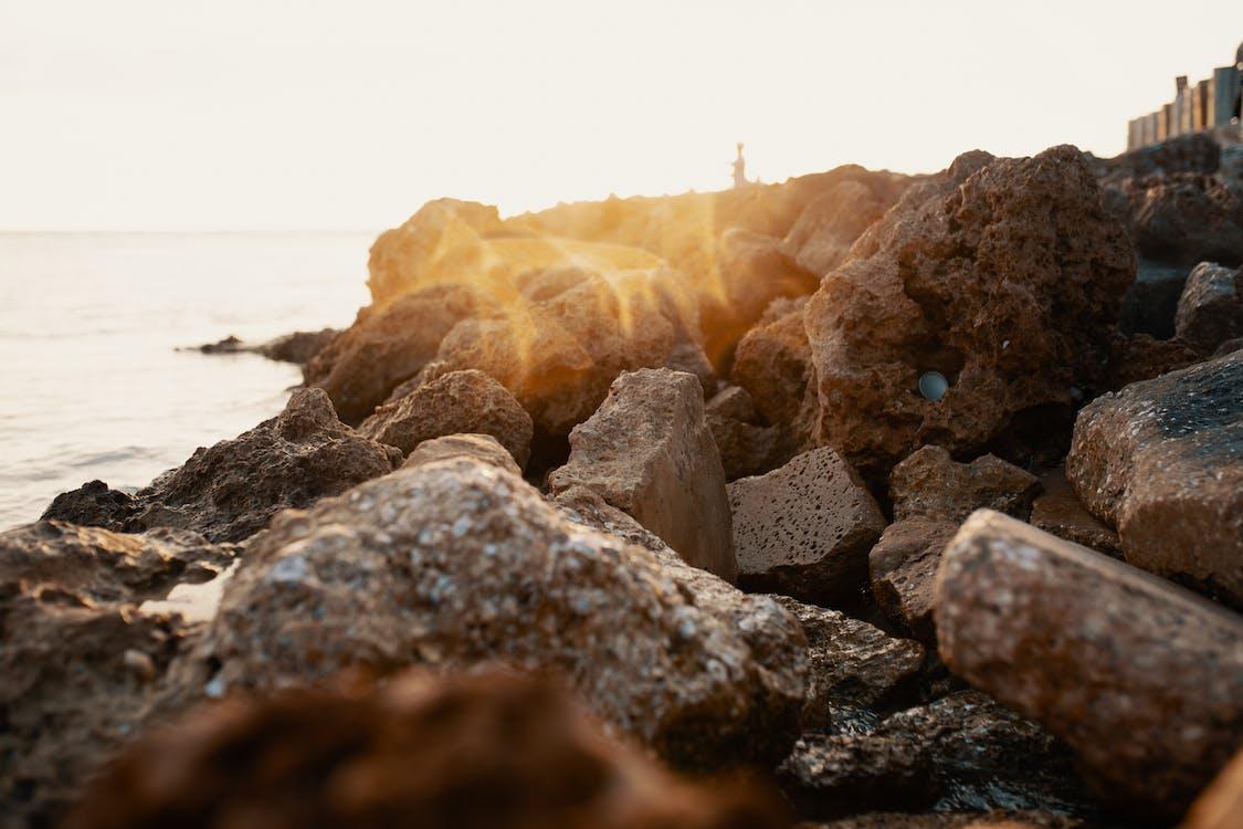 kust, rotsen, stenen