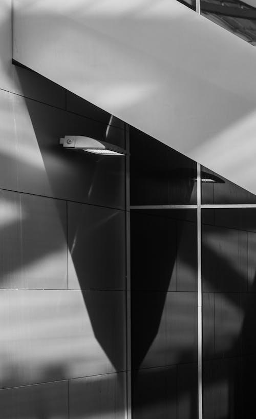 Graustufenfotografie Von Eingeschaltetem Licht