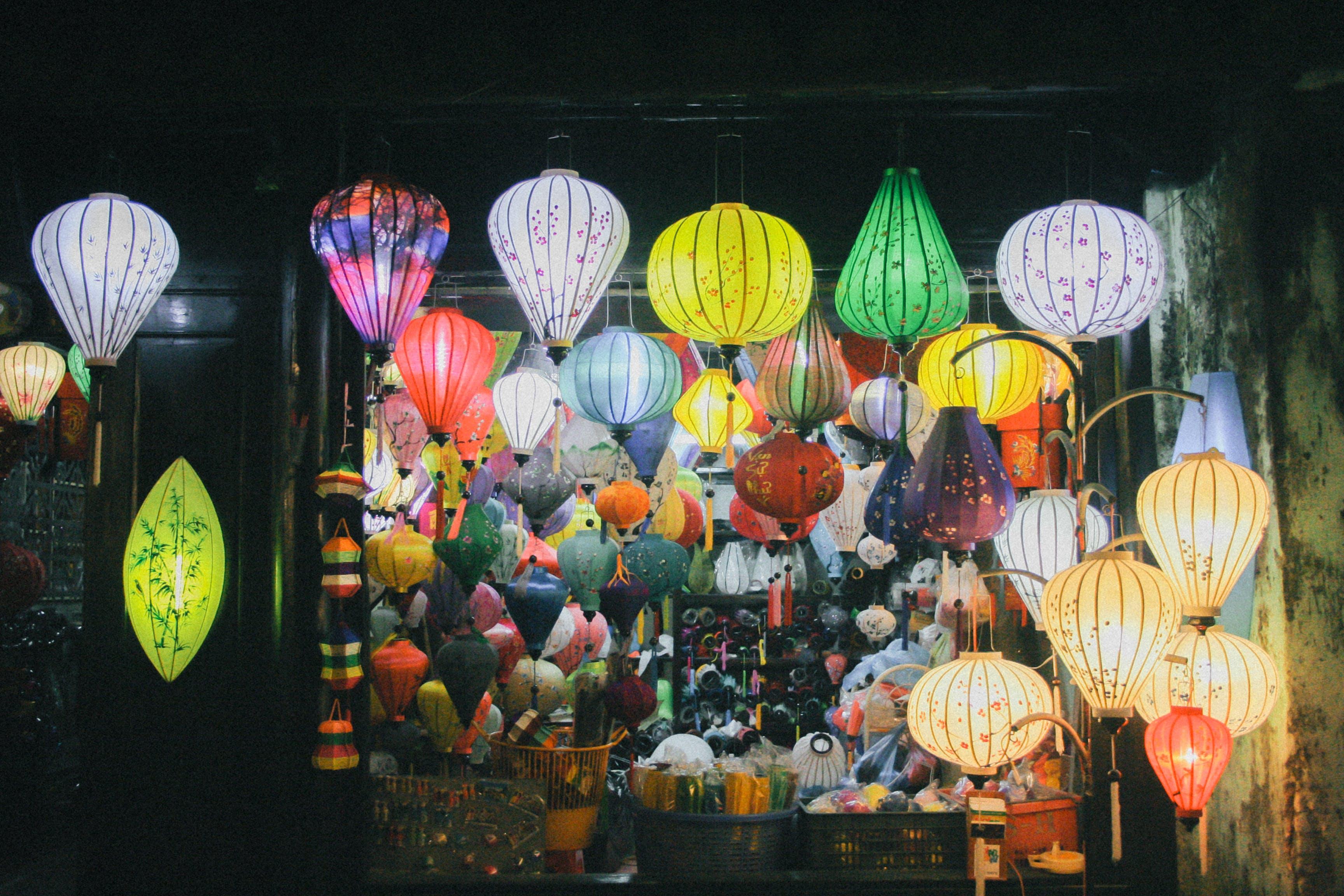 Free stock photo of chinese lanterns, hội an, lanterns, old town