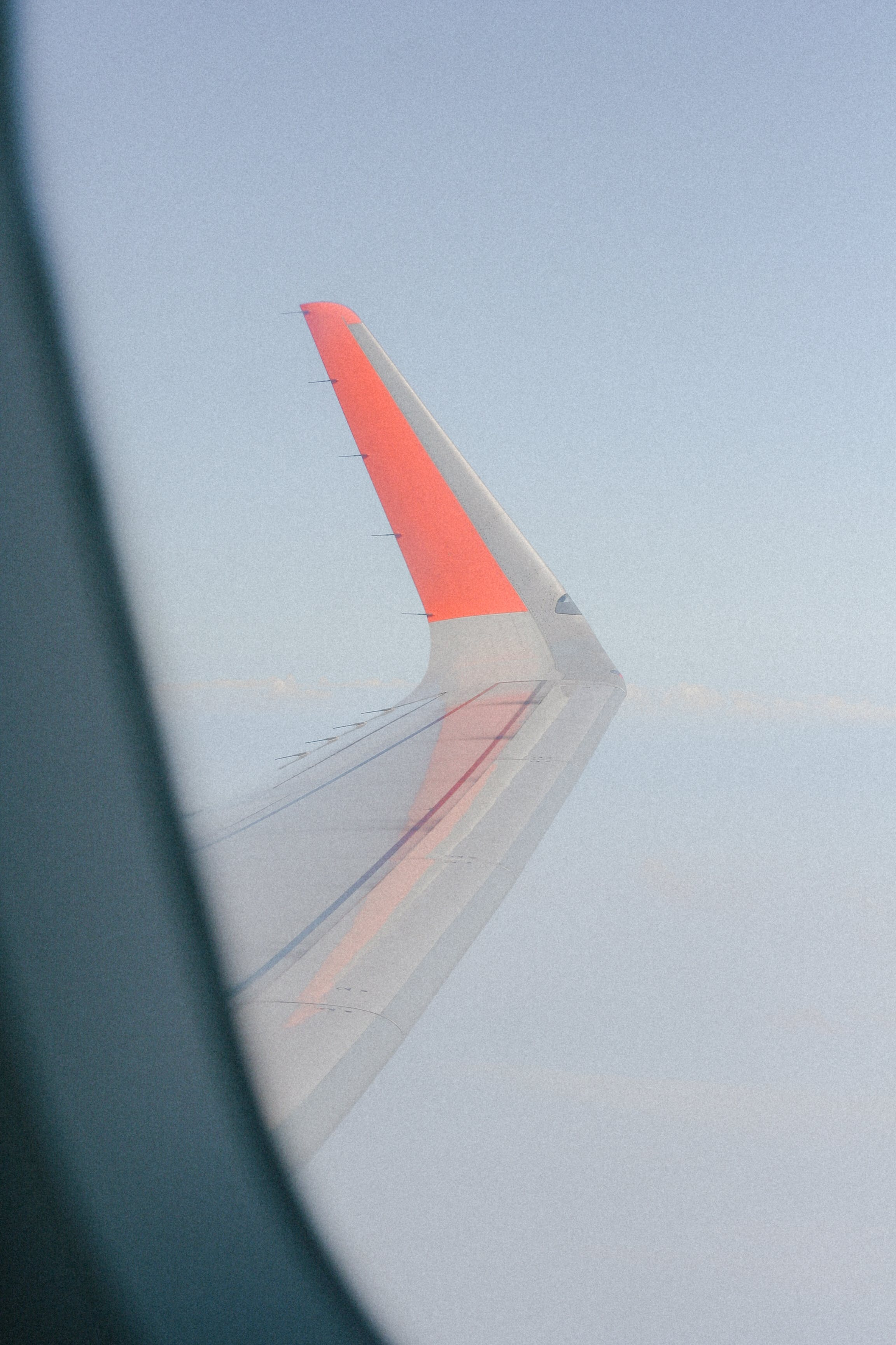 Aerial Photography of Plane Wings