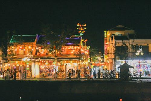 ộan, 光, 房子, 晚上 的 免费素材照片