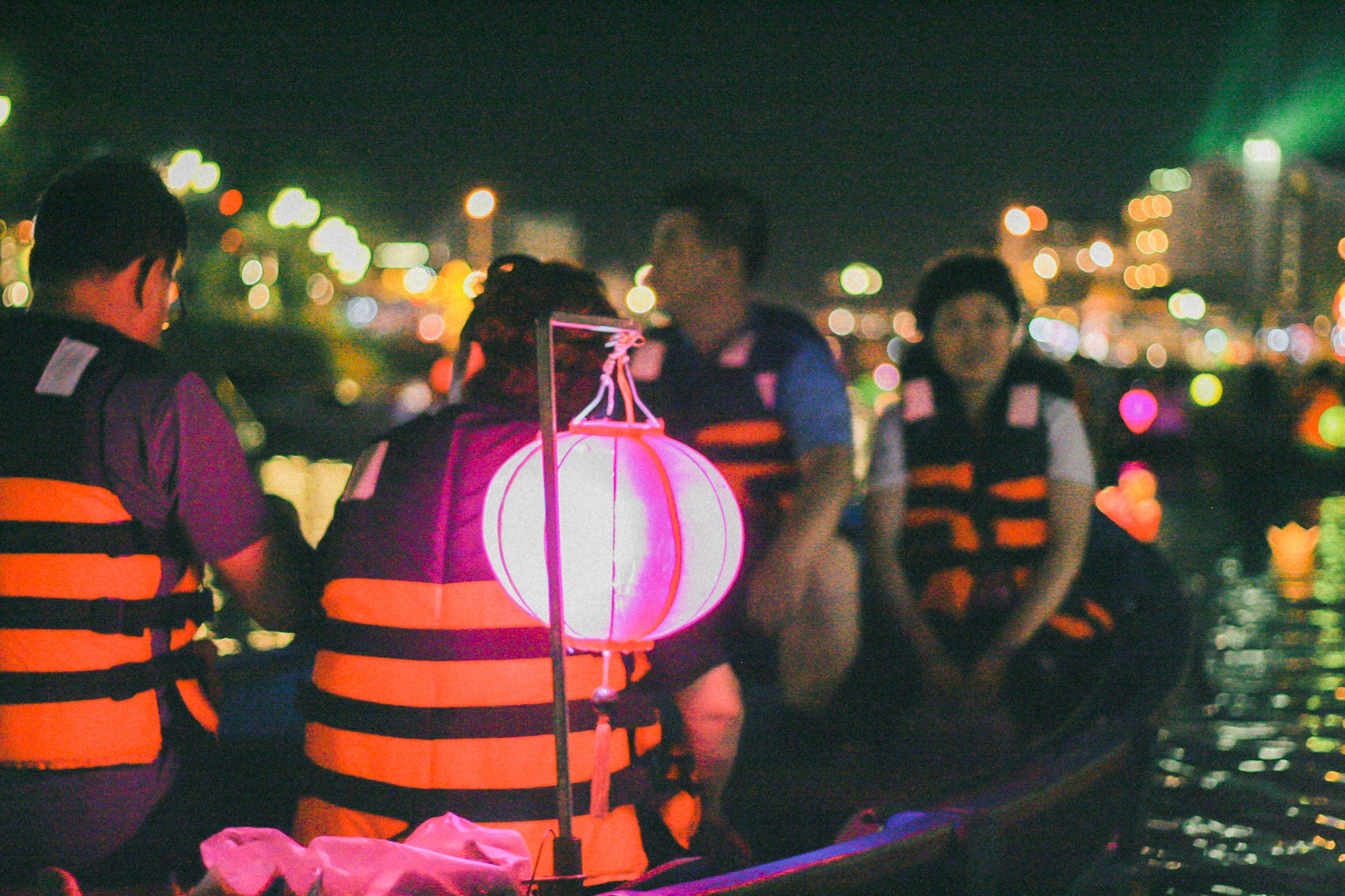 Free stock photo of boat, hội an, lantern, light