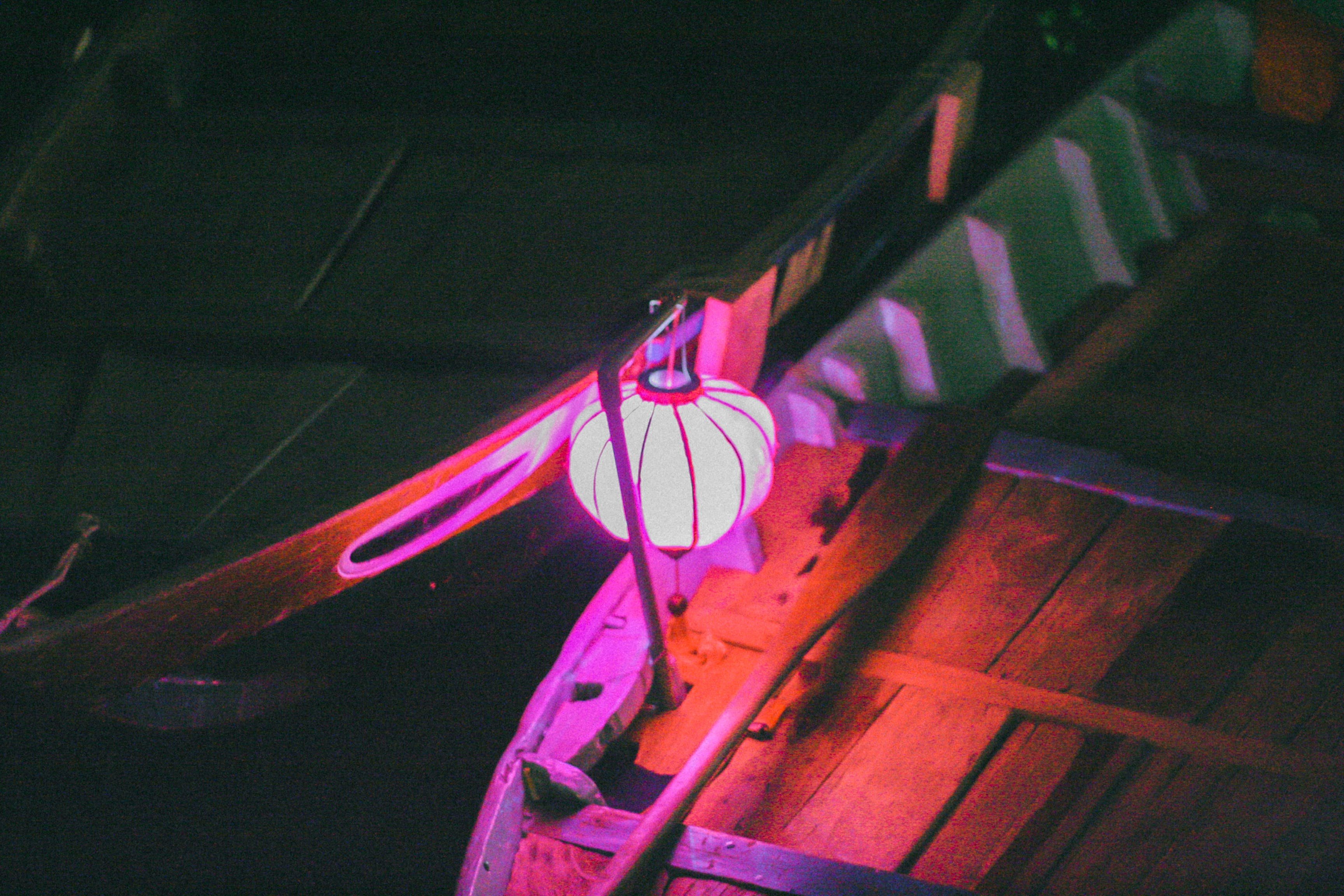 Free stock photo of boats, contrast, hội an, lantern