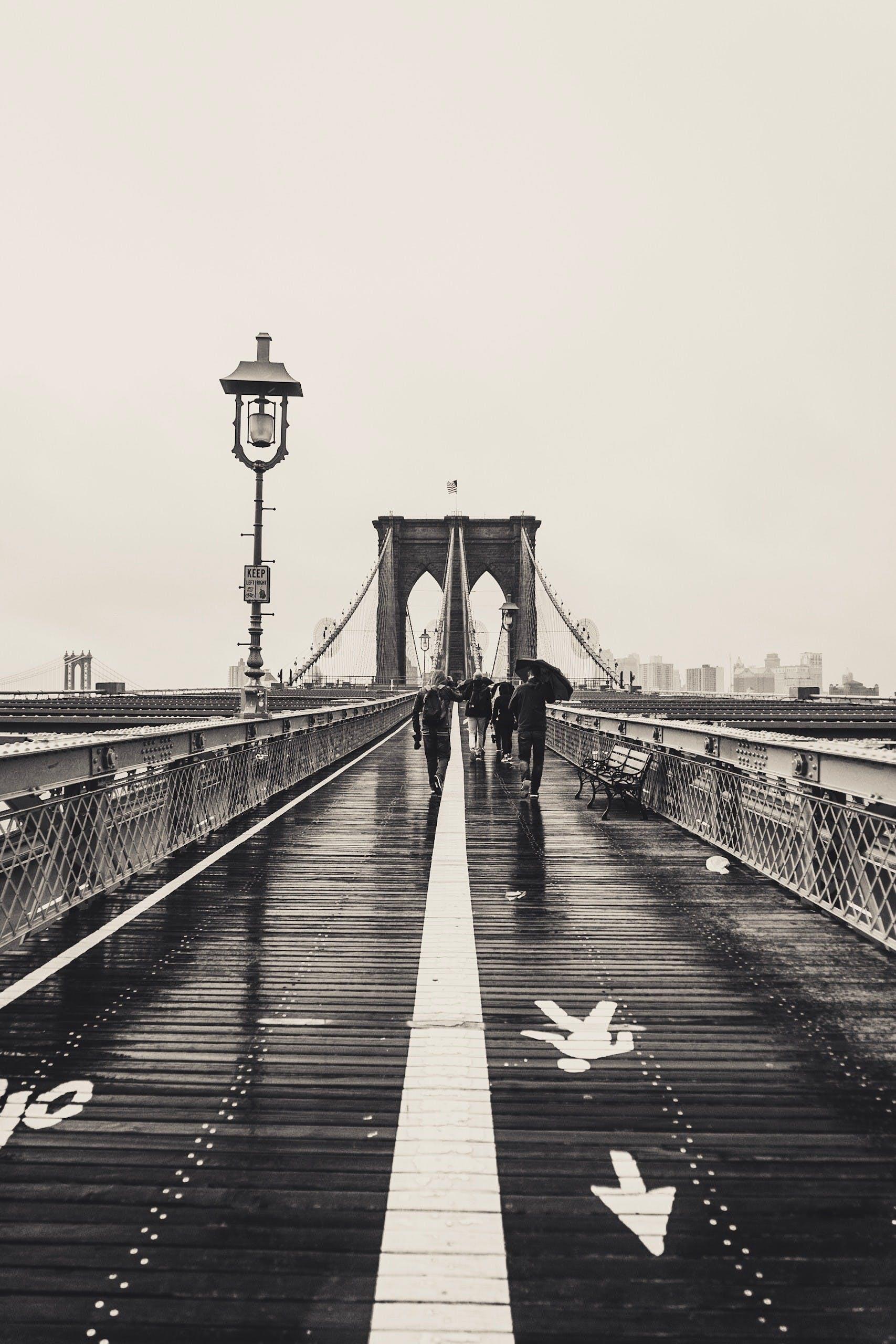 Free stock photo of black and white, bridge, brooklyn bridge, city