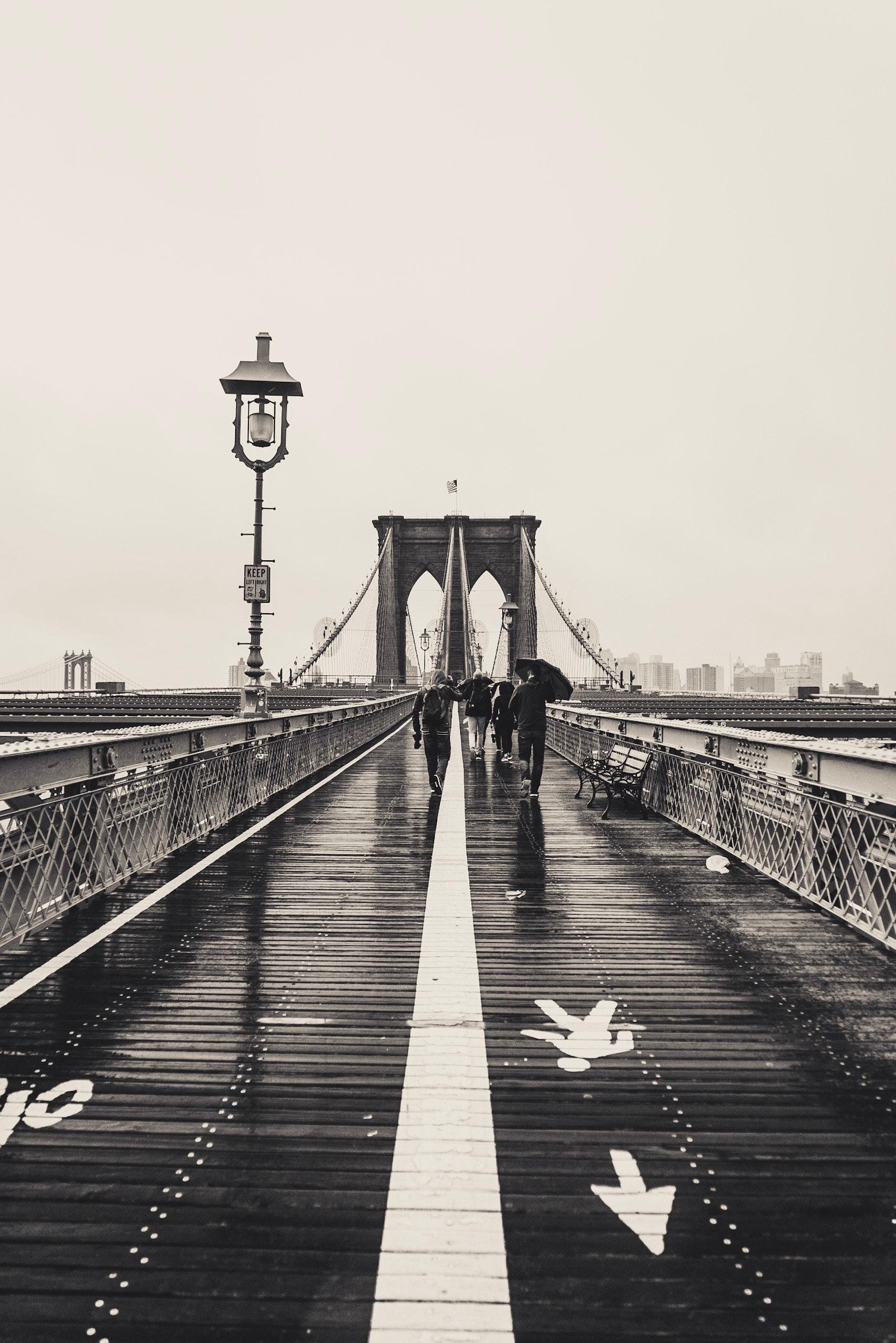 Free Stock Photo Of Black And White Bridge Brooklyn Bridge
