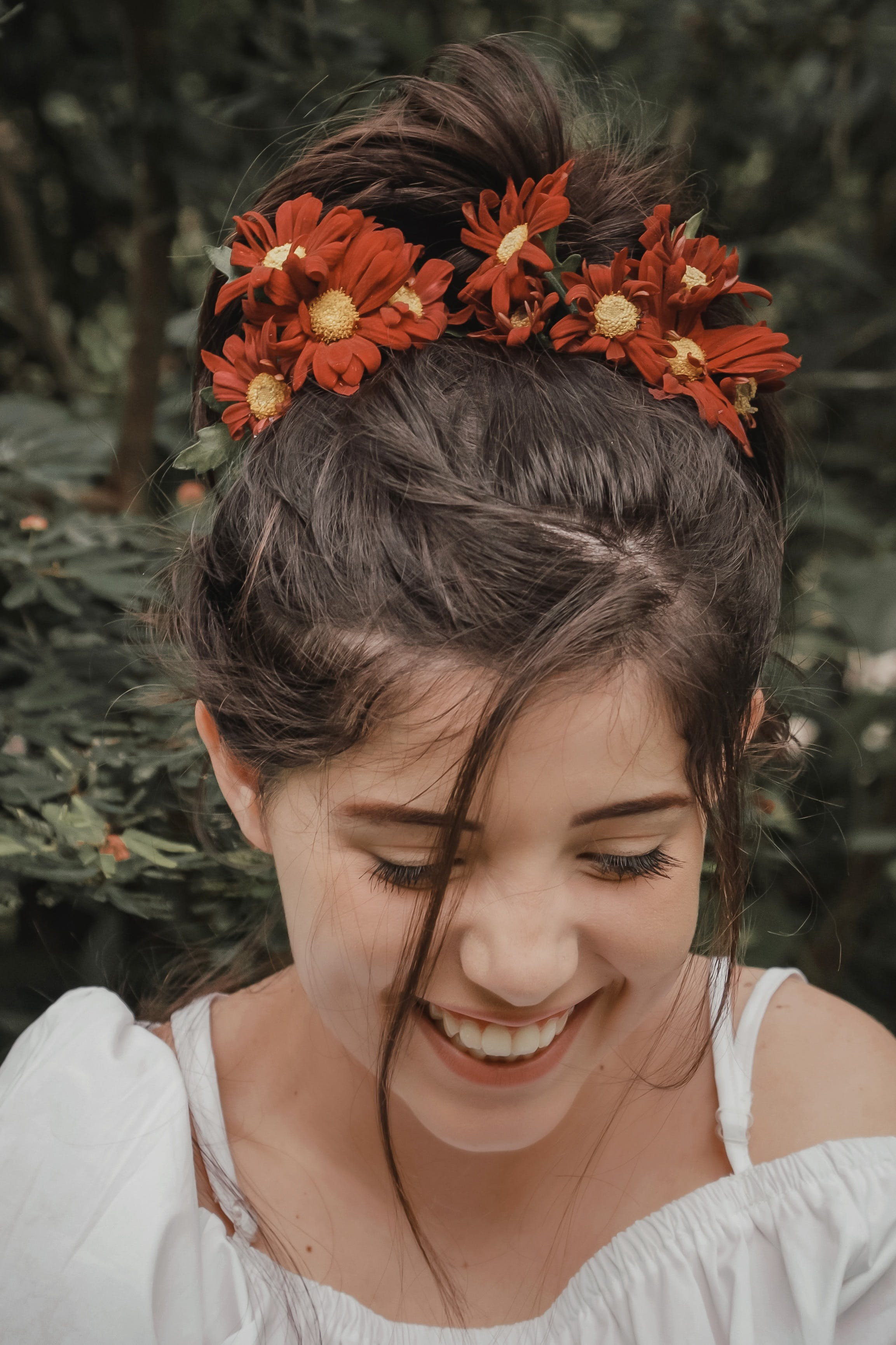 Selective Focus Photography Of Woman With Flowers On Her Head