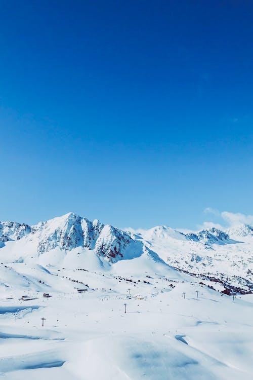 Alpy, chladný, deň