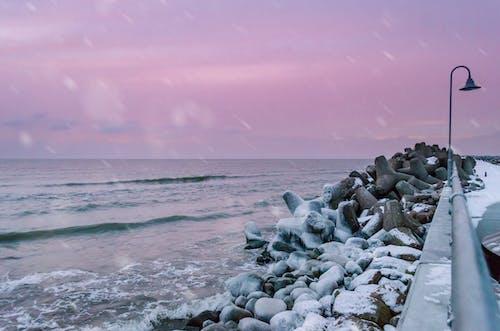 Free stock photo of ice, landscape, pinkish, sea