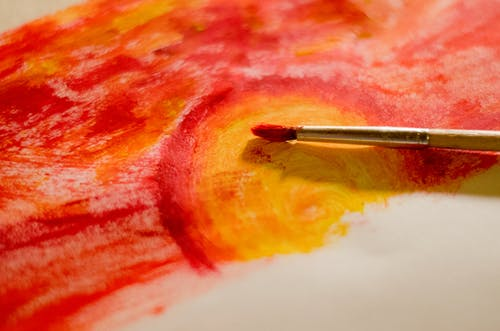 Yellow And Red Painting