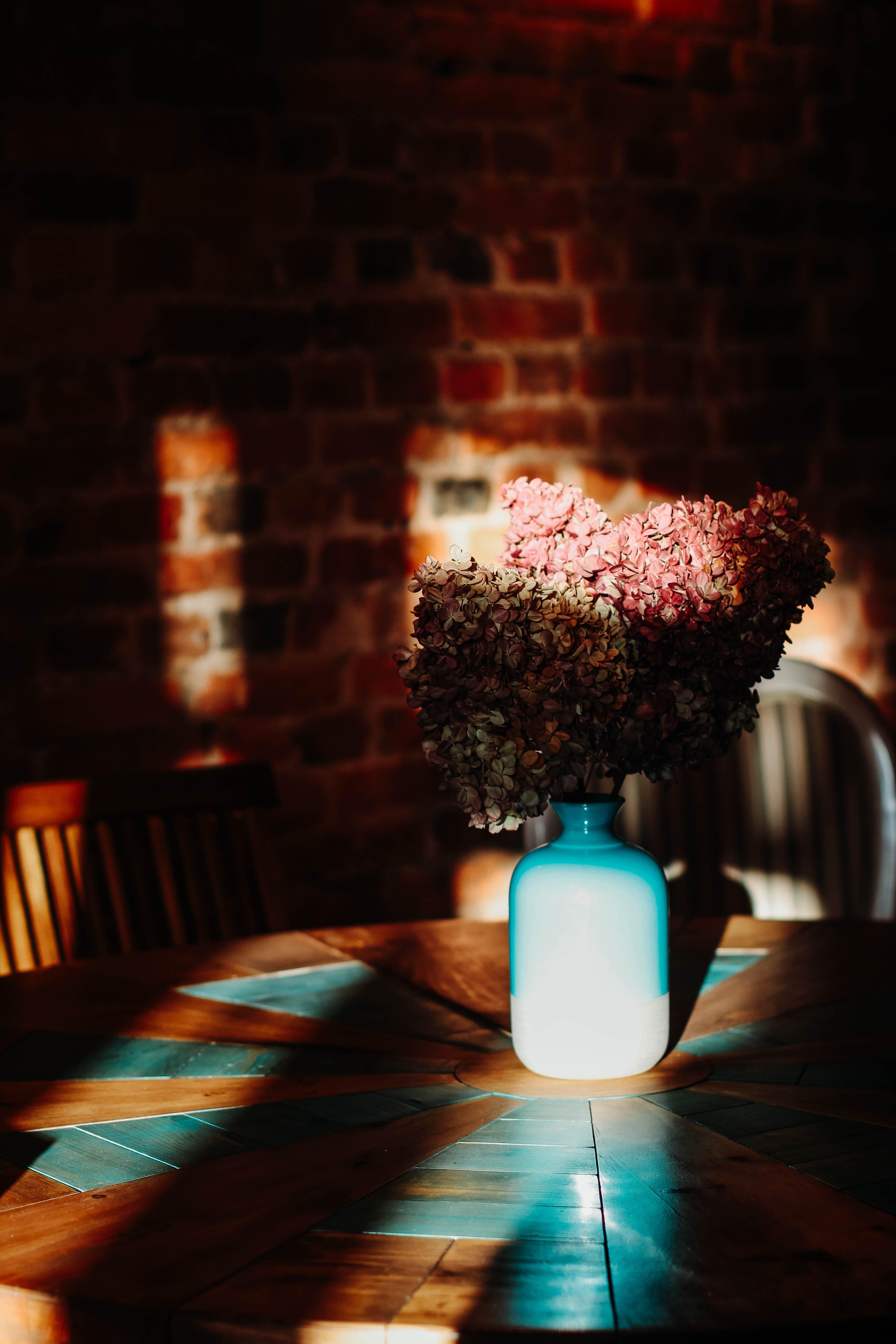 Gratis lagerfoto af atmosfære, blomster, blomstervase, boligindretning