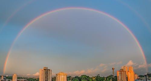 Rainbow over High-rise Buildings