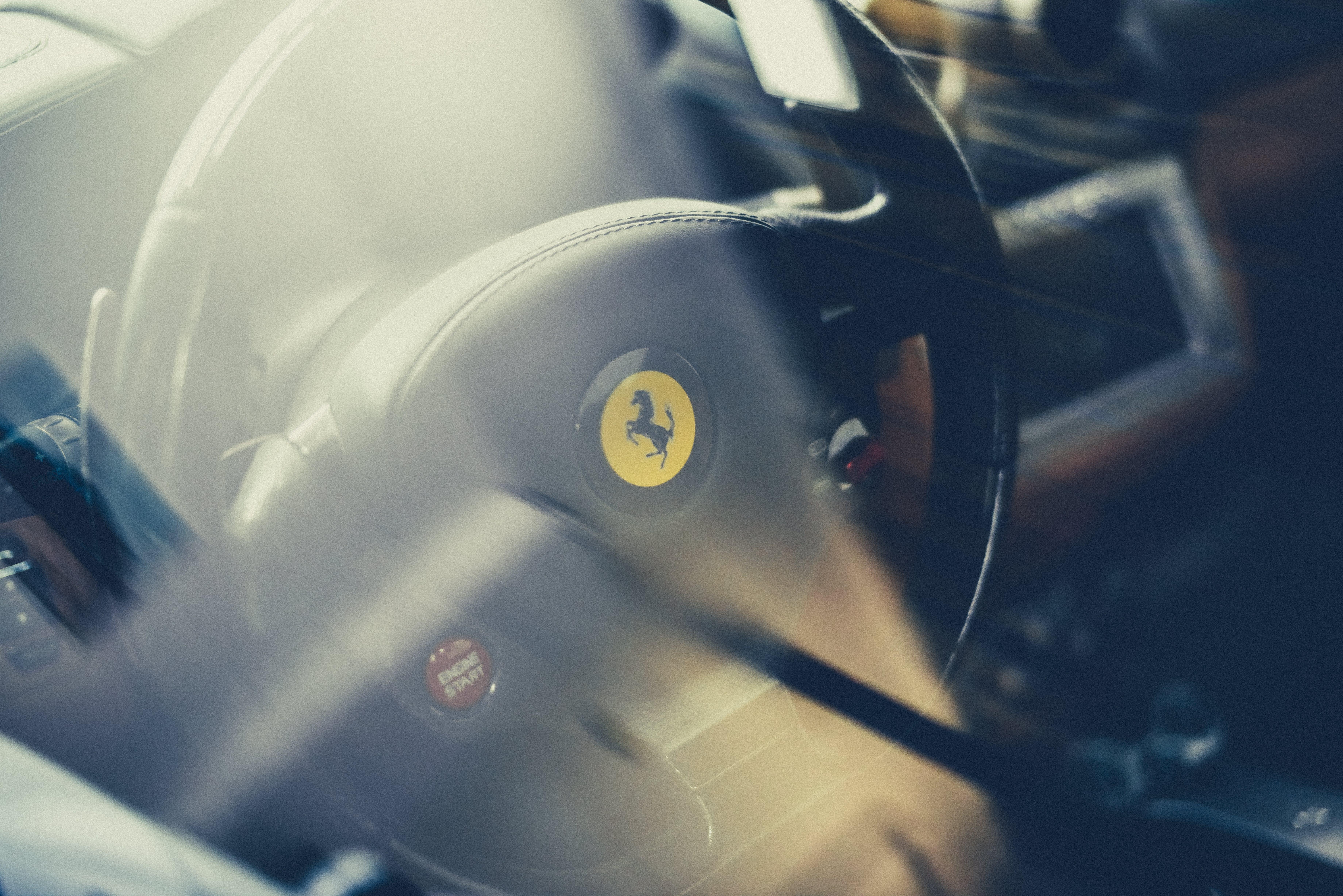 Free stock photo of car, Ferrari, glass, logo