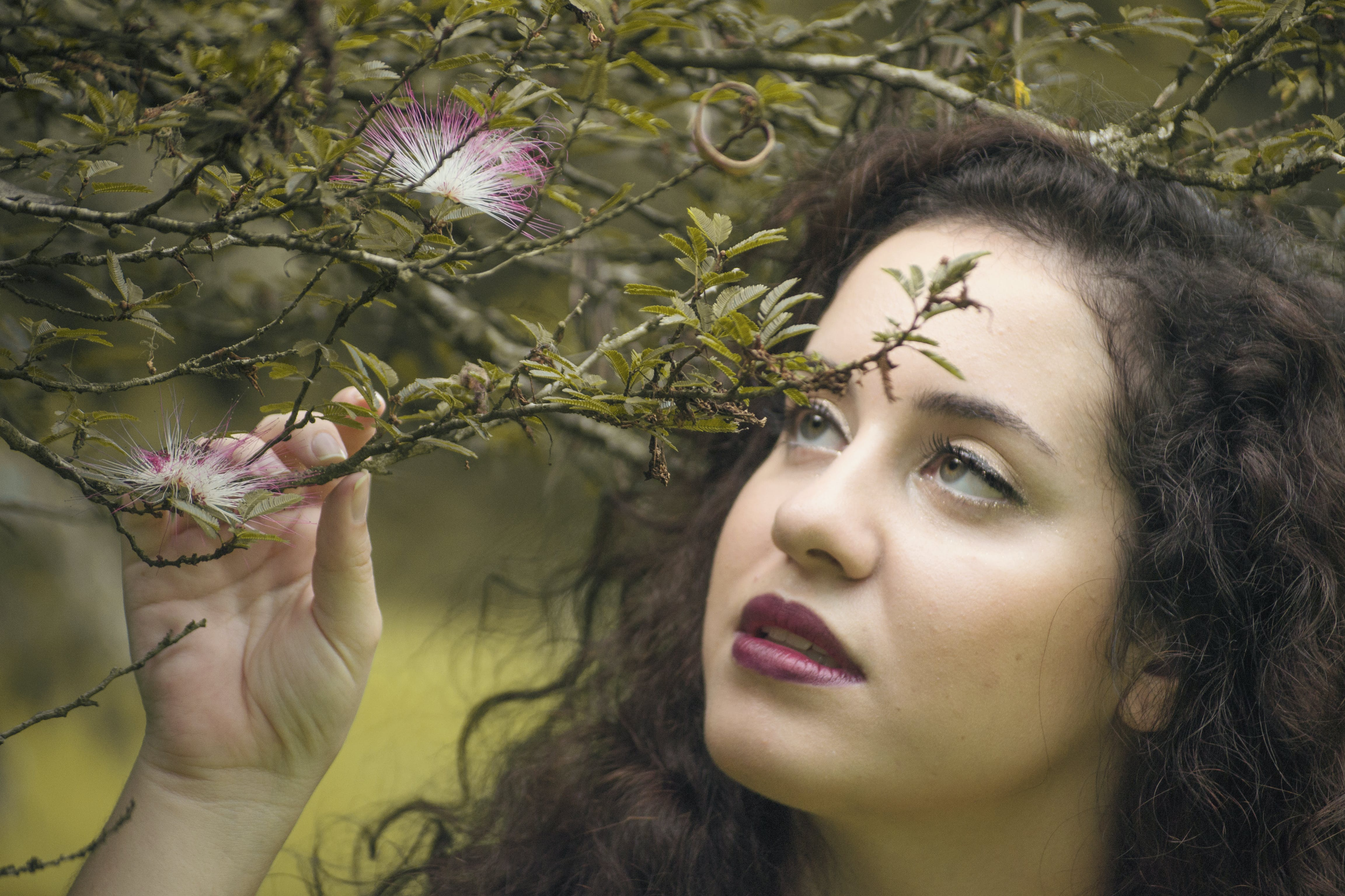 of girl, nature, portrait, woman