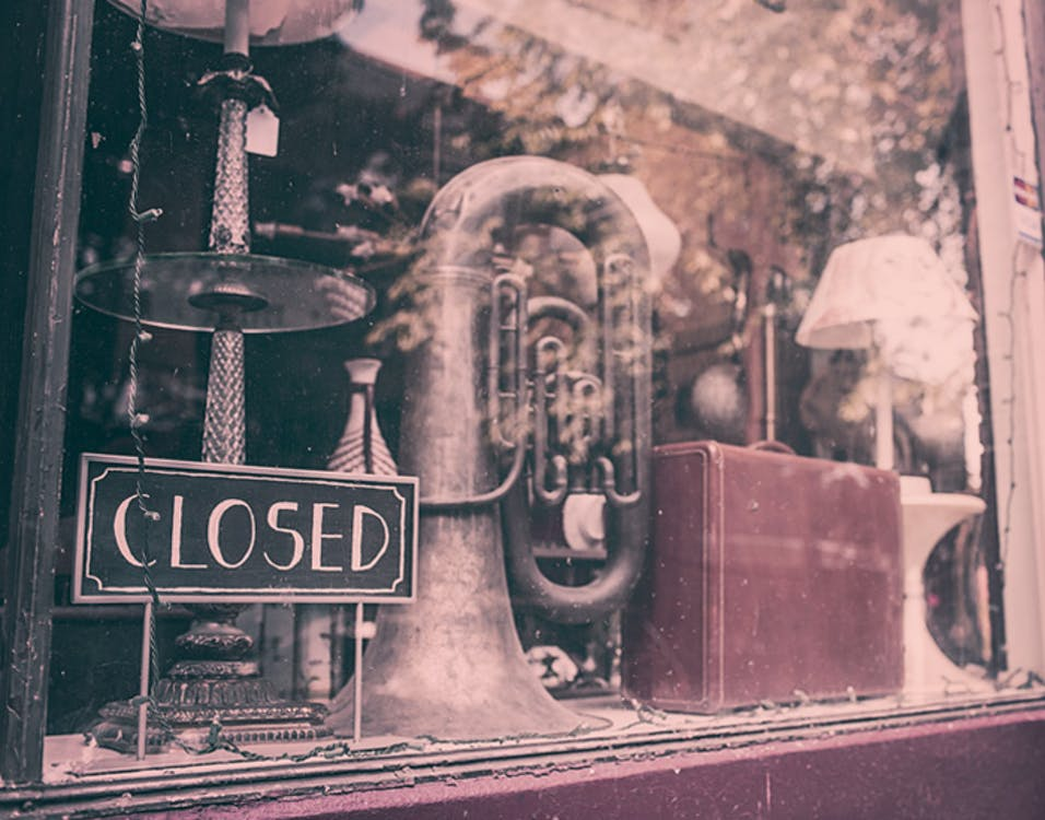 Wind Instrument Inside the Store