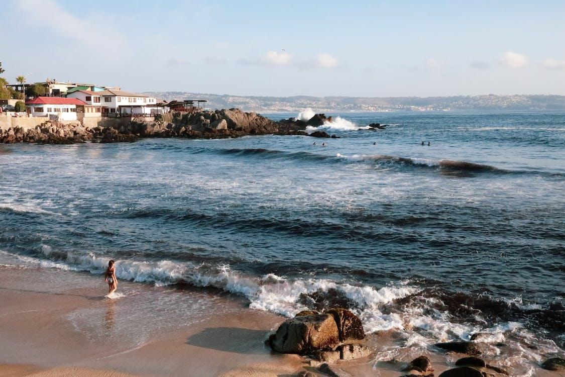 bølger, Chile, dagslys