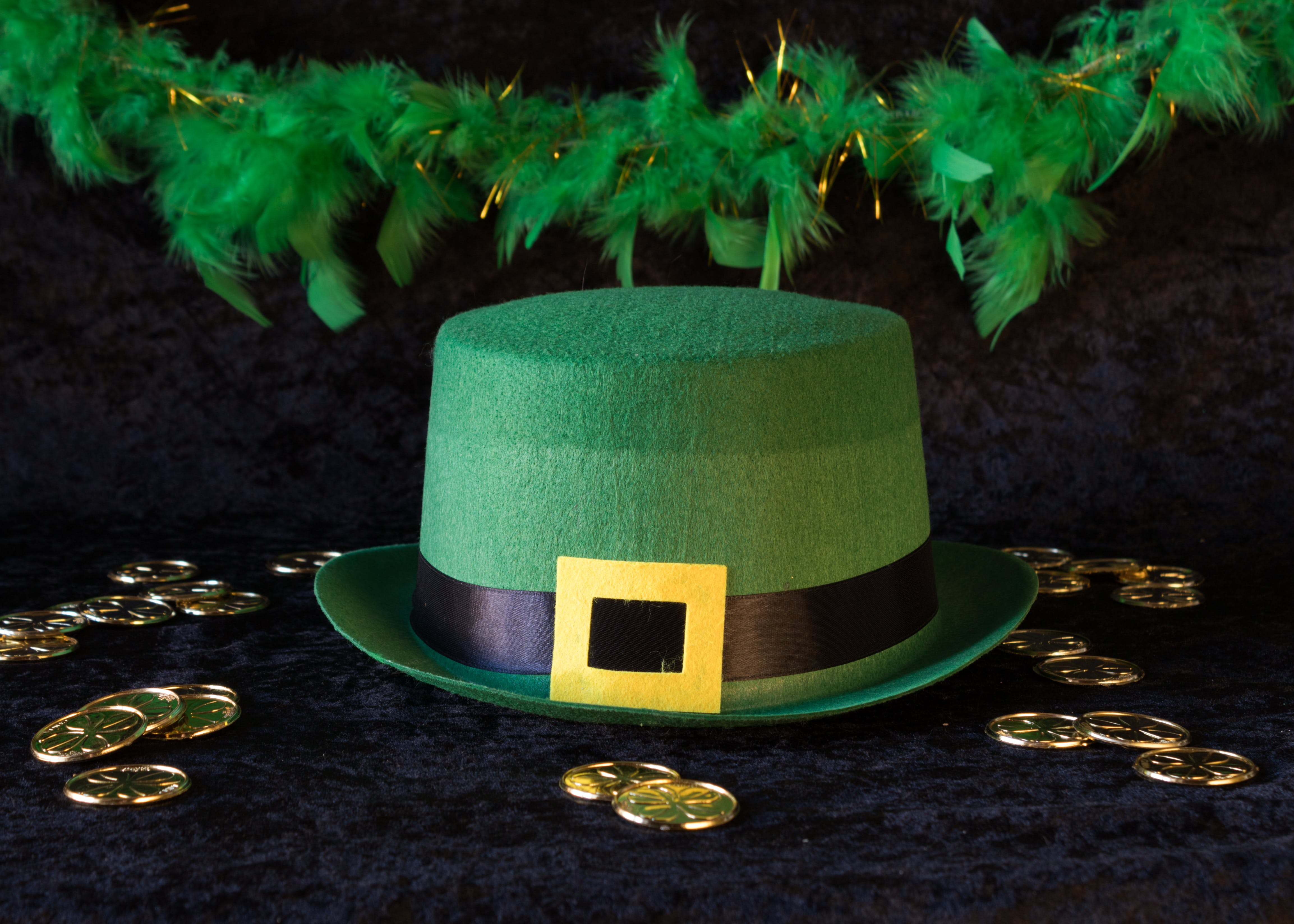 Free stock photo of gold coins, green, hat, St. Patrick's day