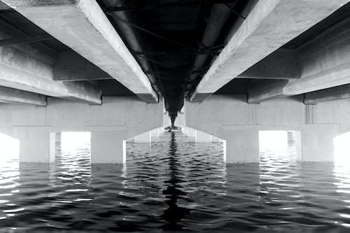 Free stock photo of black and white, bridge
