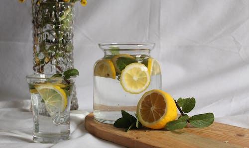 Free stock photo of lemon, lemon tea, lemonade, water lemonadewater