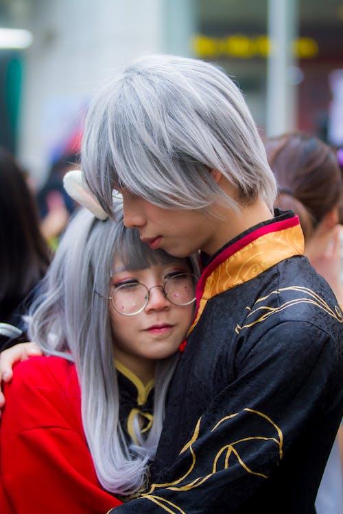 abbracciando, adulti, amore