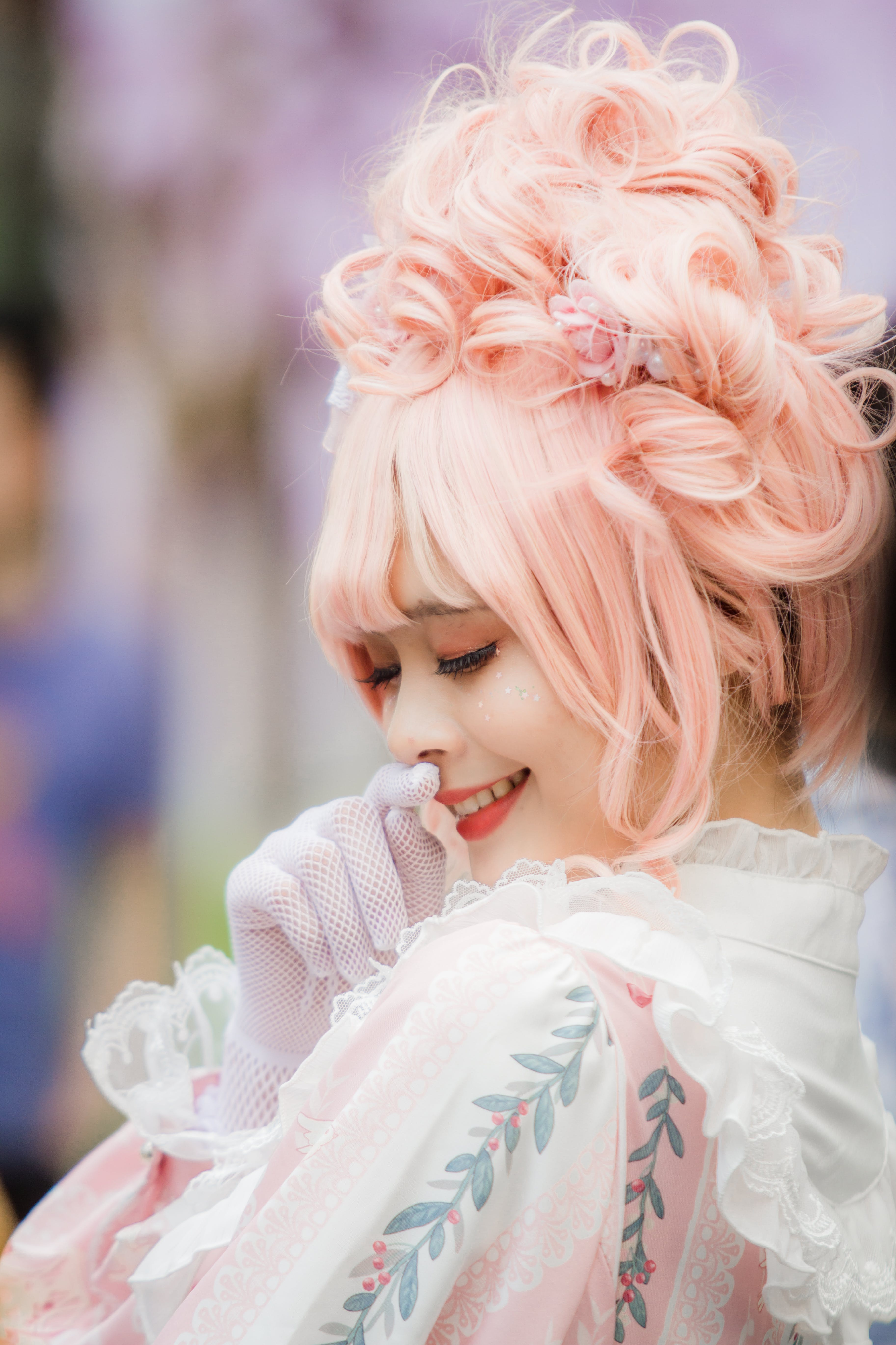 Close-Up Photo Of Woman With Pink Hair