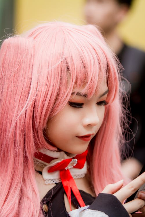 Photo of Girl With Pink Hair