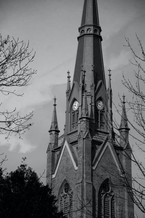 Free stock photo of black and white, church