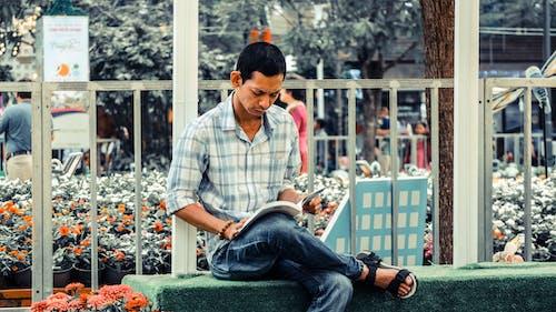 남성, 남자, 독서하는, 독서하다의 무료 스톡 사진
