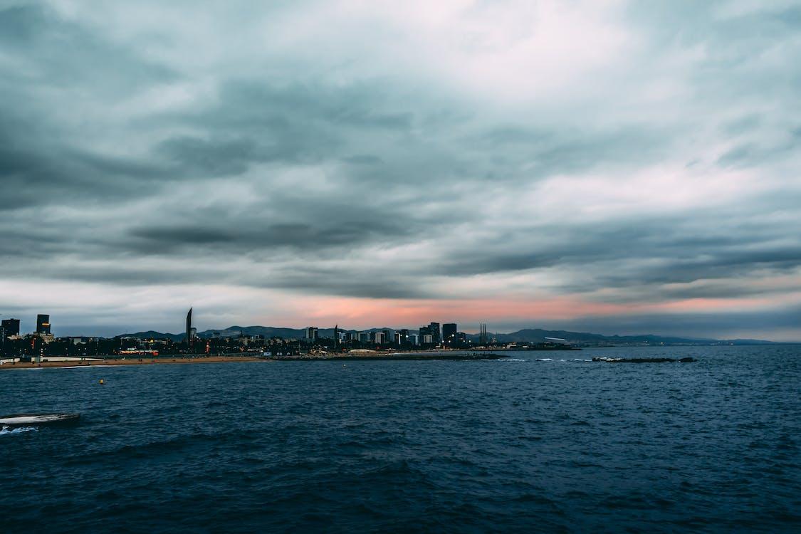 barcellona, cielo, città