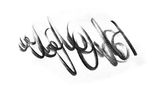Gratis lagerfoto af blyant, blyantslag, børste, gråtoner