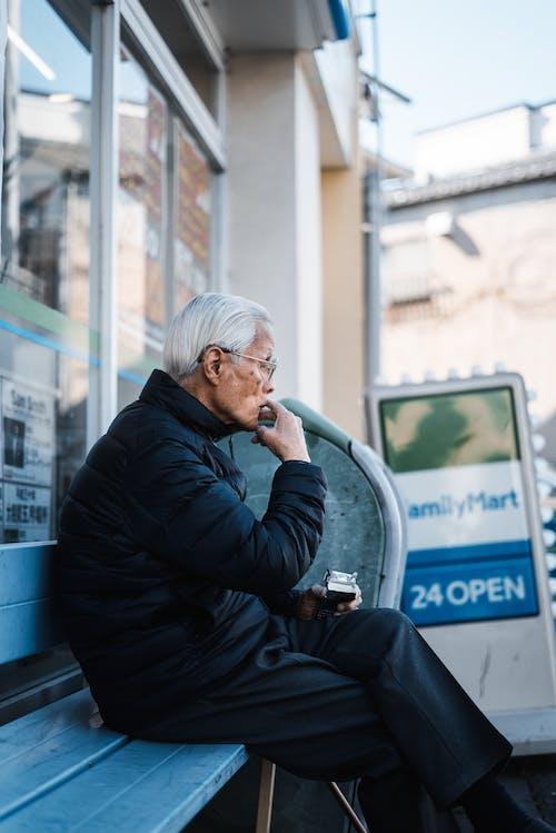 Imagine de stoc gratuită din bancă, în vârstă, om, persoană