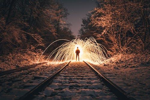 Foto d'estoc gratuïta de exposició, exposició llarga, flamarada, flames
