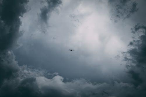 Foto d'estoc gratuïta de avió, cel, núvol, núvols de tempesta