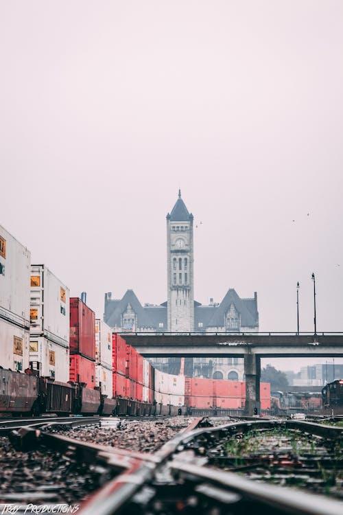 คลังภาพถ่ายฟรี ของ ciities, การถ่ายภาพในเมือง, ท้องฟ้า, ทางรถไฟ