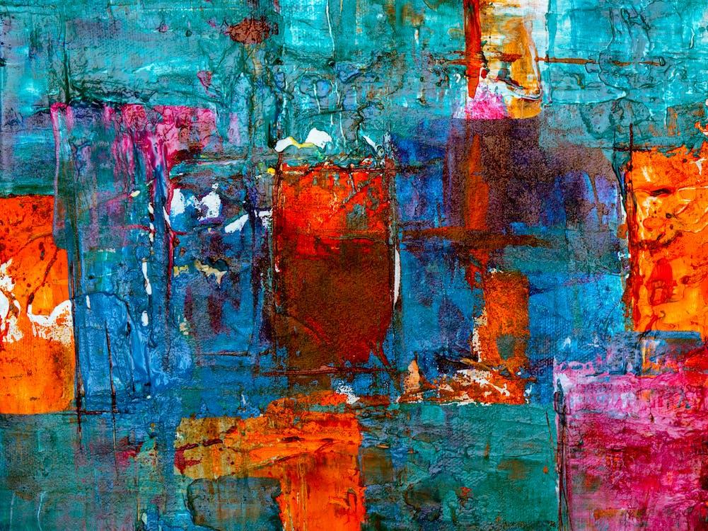 abstrakcyjny, abstrakcyjny ekspresjonizm, akryl