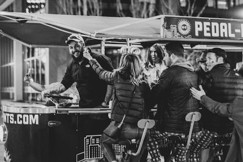 Free stock photo of bar, black and white, party, pedal