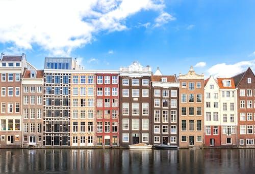 คลังภาพถ่ายฟรี ของ ตึก, ที่อยู่อาศัย, ริมน้ำ, สถาปัตยกรรม