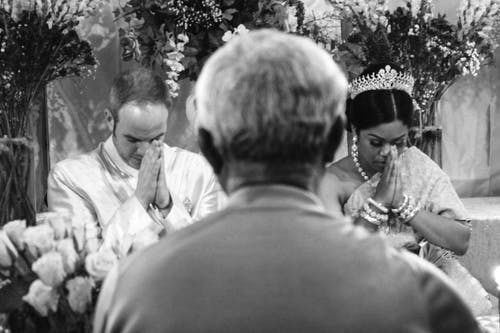Monochrome Photo Of Ceremony