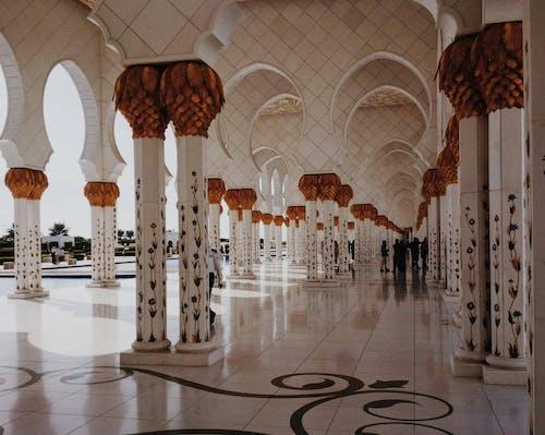 건물, 건축, 그랜드 모스크, 기둥의 무료 스톡 사진